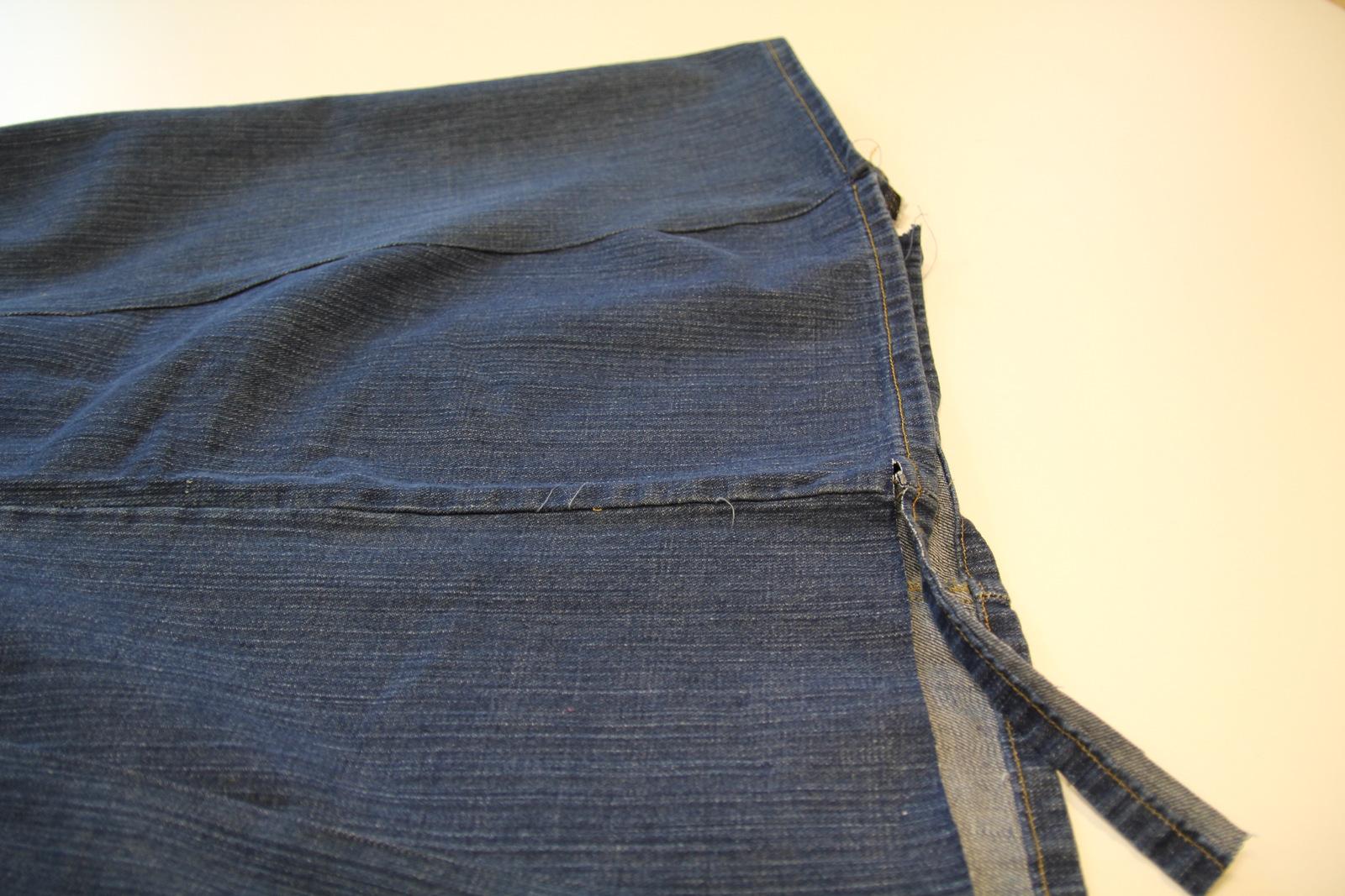 Как из джинс сшить джинсовую юбку