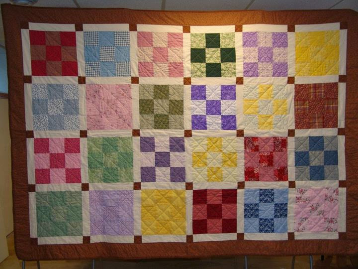 My first quilt - finished in 2008. Made as a project for 4-H.